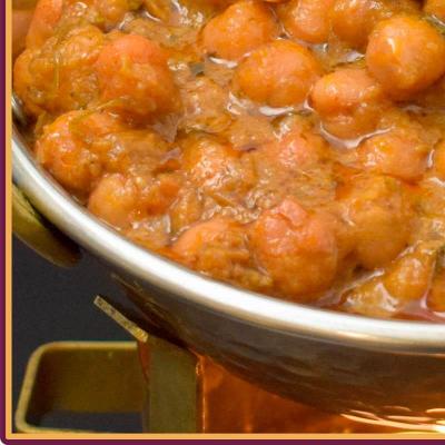 Channa Masala mit Reis